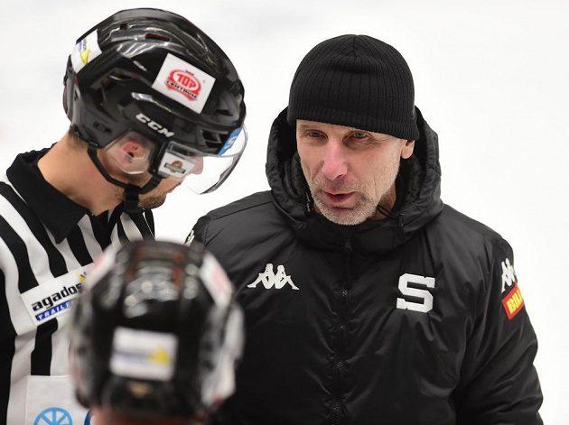 Trenér hokejové Sparty Miloslav Hořava.