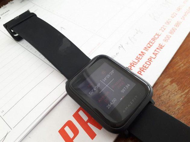 Xiaomi Huami Amazfit Bip - další funkce kompasu: Aktuální souřadnice mohou zachraňovat životy.