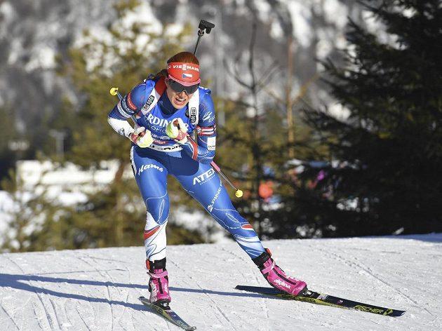 Česká biatlonistka Gabriela Koukalová vyhrála na mistrovství světa v Hochfilzenu sprint.