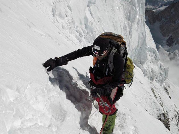 Radek Jaroš při výstupu na K2.