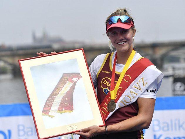Vítězka závodu ve skifu Helena Hlasová z Dukly Praha.