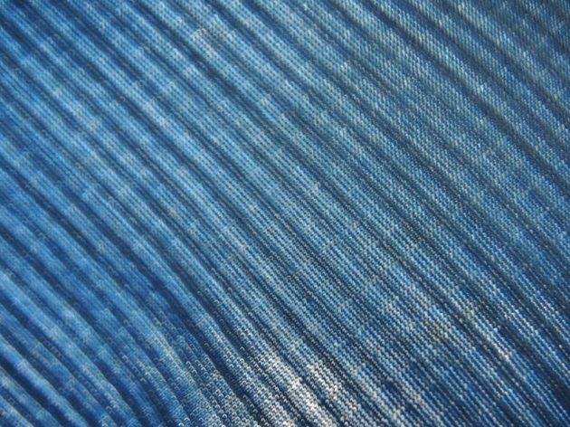 Termotriko Icebreaker BodyfitZONE Winter LS HZ: Detail žebrované tkaniny.