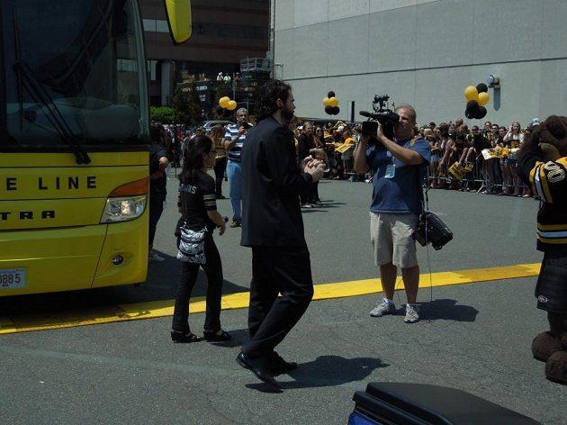 Jaromír Jágr se loučí s bostonskými fanoušky.