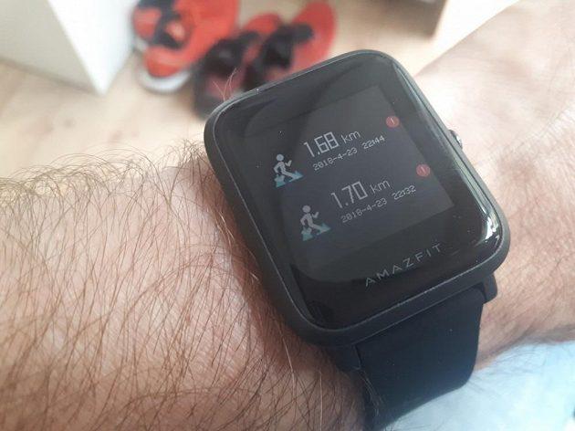 Xiaomi Huami Amazfit Bip - některé aktivity se ale odmítají synchronizovat.