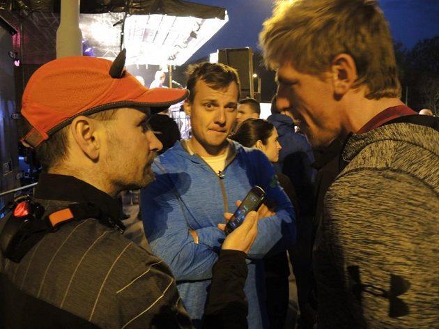 Kajakáři Havel a Trefil krátce před startem.