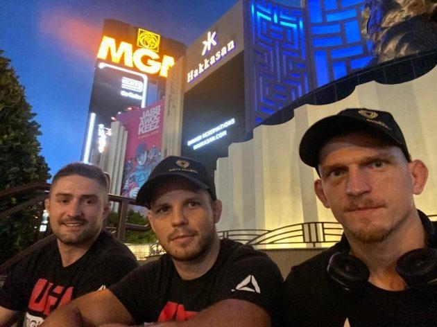 Jakub Kašpar, Jan Maršálek a David Dvořák v Las Vegas.