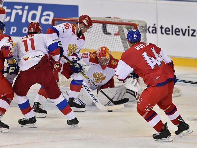 Boj o puk před ruským brankovištěm.
