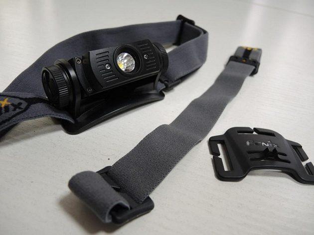 Standardní čelovku lze doplnit přídavným středovým páskem.