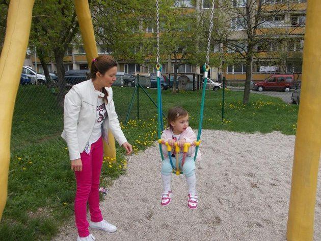 Lucie Štefanová a chvilka klidu od běhání.