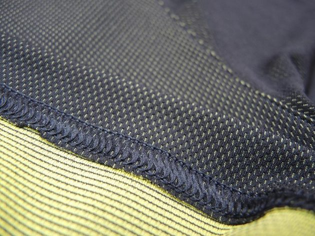 Detail zpracování švu.
