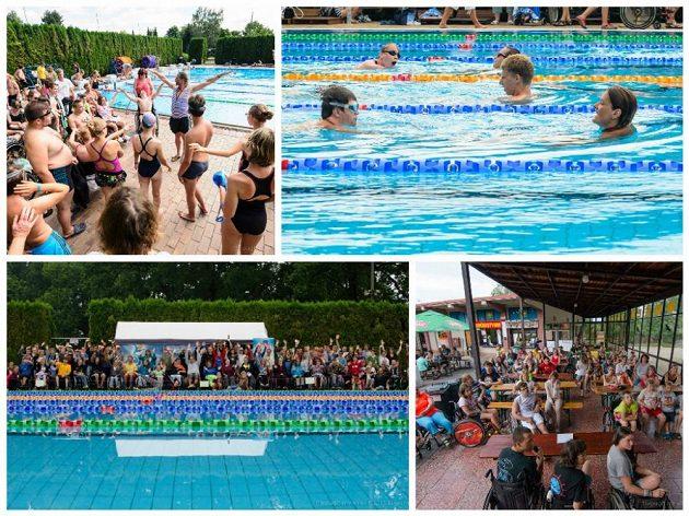 Individuální plavecká výuka ve Strakonicích – výklad, seminář s plavci, kteří se účastnili mezinárodních závodů. Dole individuální výuka a společná fotka třetího turnusu.