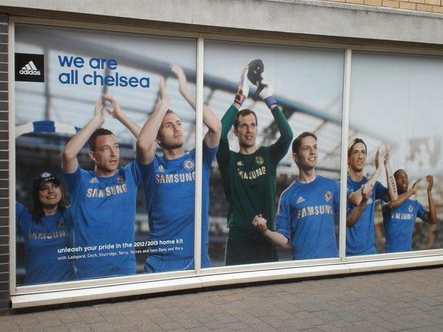 Stěna slávy Chelsea.