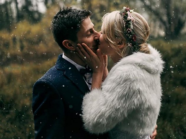 Snímek ze svatby Evy Puskarčíkové a Lukáše Kristejna.