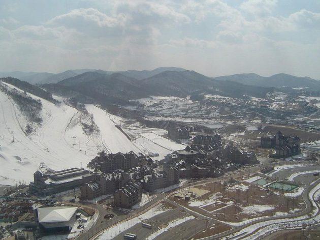 Tady bude během příštích ZOH centrum lyžování...