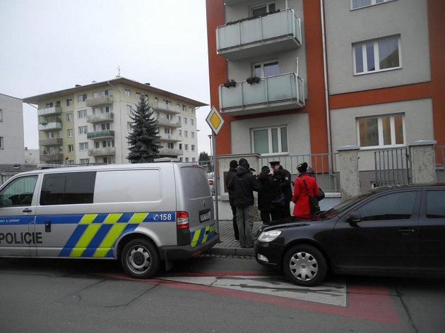 Policejní mluv?í informuje noviná?e o p?epadení Petry Kvitové.