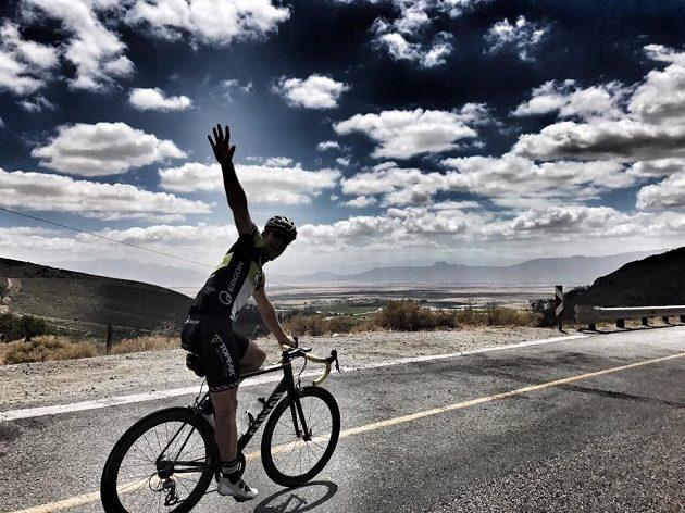 Český biker Kristián Hynek během tréninku v Jihoafrické republice.