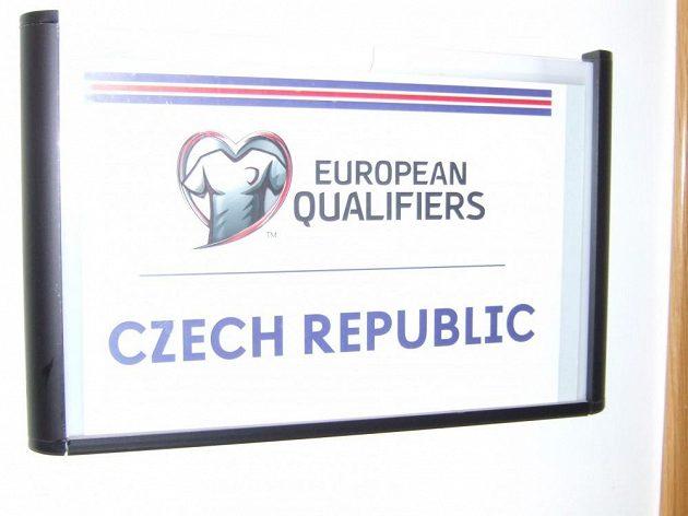 Česká šatna už je připravená...