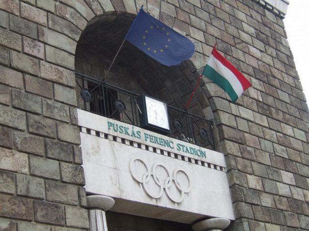Brána Stadiónu Ferencze Puskáse.