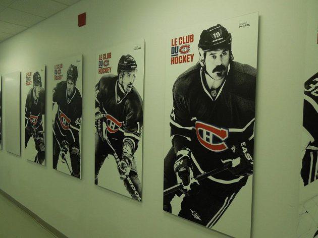 Chodba k šatně Canadiens.