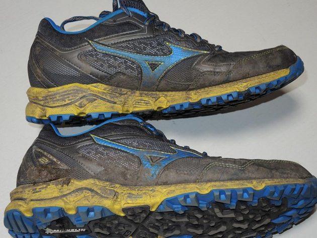 Běžecké krosové boty Mizuno Wave Daichi 2 - reflexe je za tmy dobře patrná  i přes 2188fd9fb5