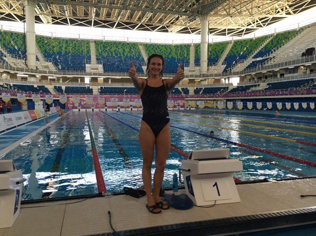 Olympijský bazén v Riu si Barbora Závadová vyzkoušela jako úplně první závodní plavkyně.