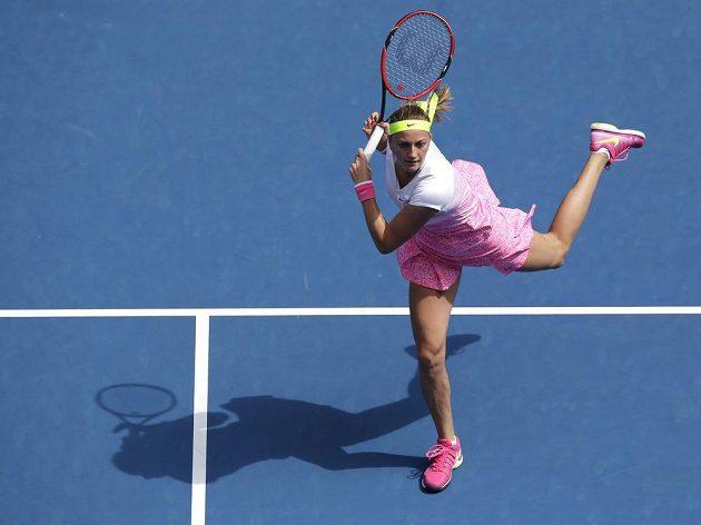 Petra Kvitová se v prvním kole Australian Open zdržela na kurtu jen hodinu.