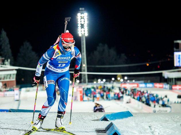 Eva Puskarčíková během vytrvalostního závodu ve švédském Östersundu.