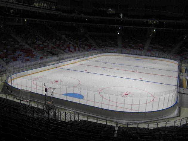 Interiér hokejové Bolšoj arény v Soči.