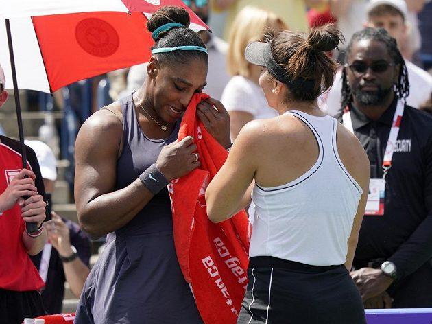 Serena Williamsová musela finálové utkání vzdát
