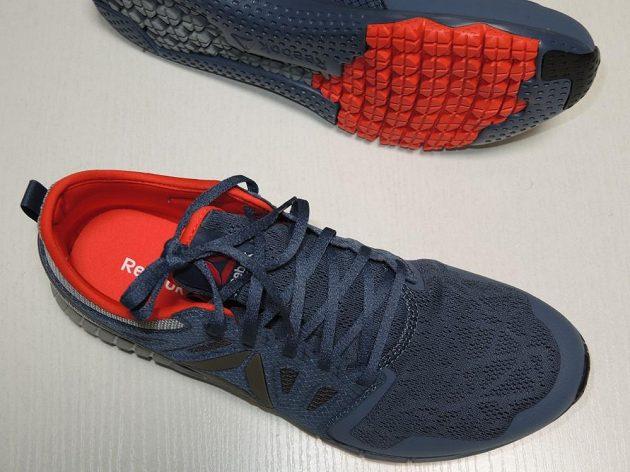 Boty Reebok Zprint 3D: Pohled shora dává tušit, že bota je ve špičce spíše užší.