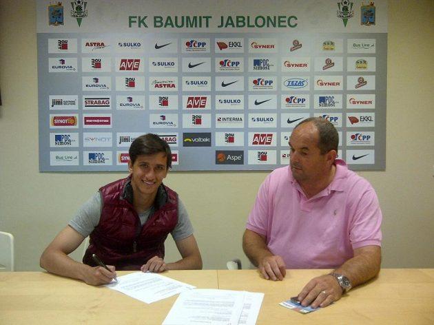 Majitel Jablonce Miroslav Pelta podepsal s novou akvizicí Ruslanem Mingazovem okamžitě smlouvu.