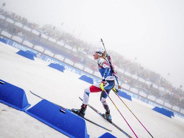 Česká závodnice Markéta Davidová při sprintu v Oberhofu.