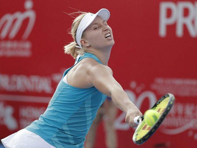 Australská tenistka Darja Gavrilovová v akci na turnaji Hong Kong Open.