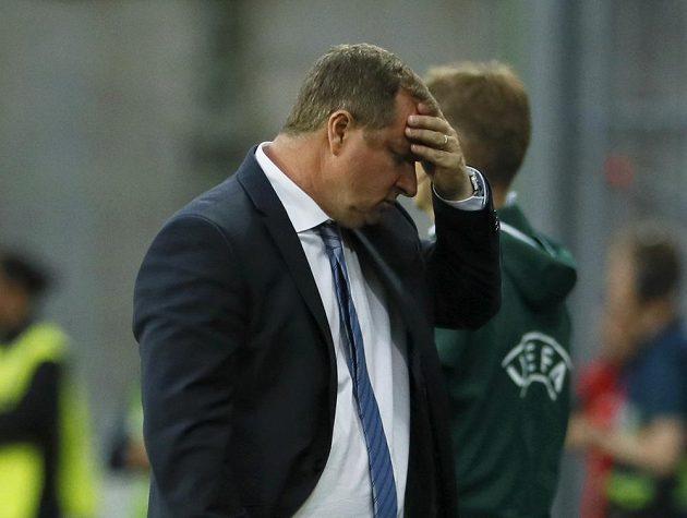 Český trenér Pavel Vrba během utkání s Tureckem.