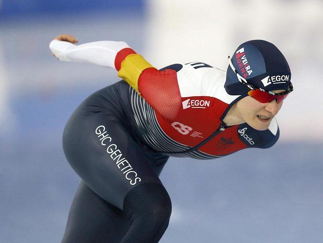 Rychlobruslařka Martina Sáblíková ovládla v Hamaru závod Světového poháru na 3000 metrů.