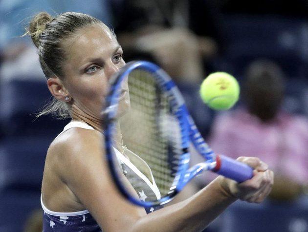 Karolína Plíšková během klání s Keninovou na US Open.