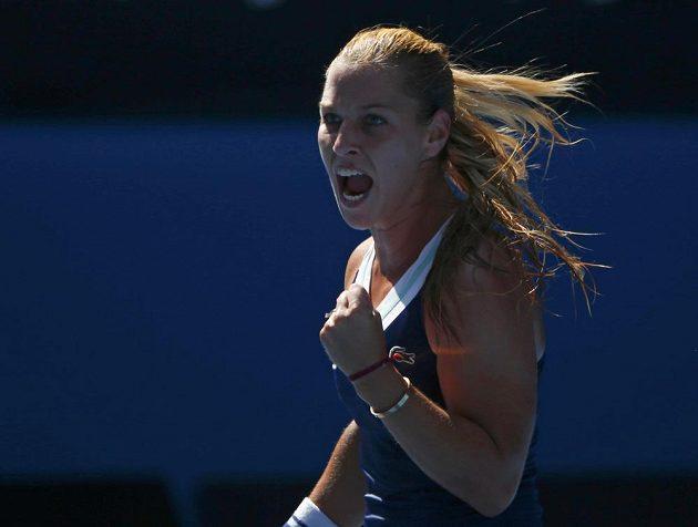 Dominika Cibulková v semifinálovém utkání Australian Open.
