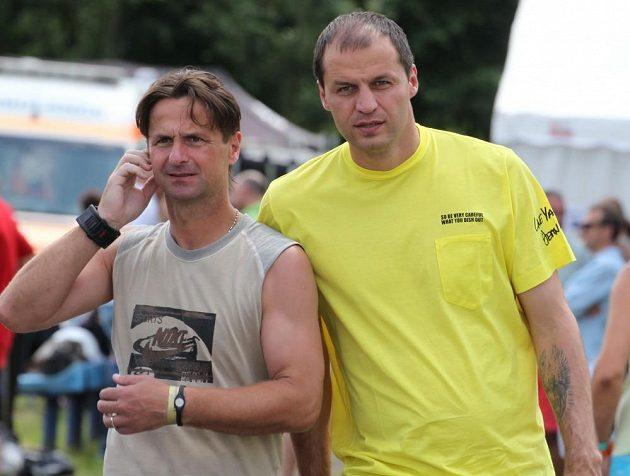 Jiří Novotný a Vratislav Lokvenc na turnaji v Lipencích