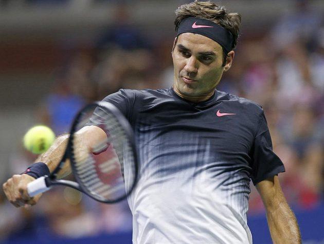 Švýcarský favorit Roger Federer postoupil do čtvrtfinále US Open.