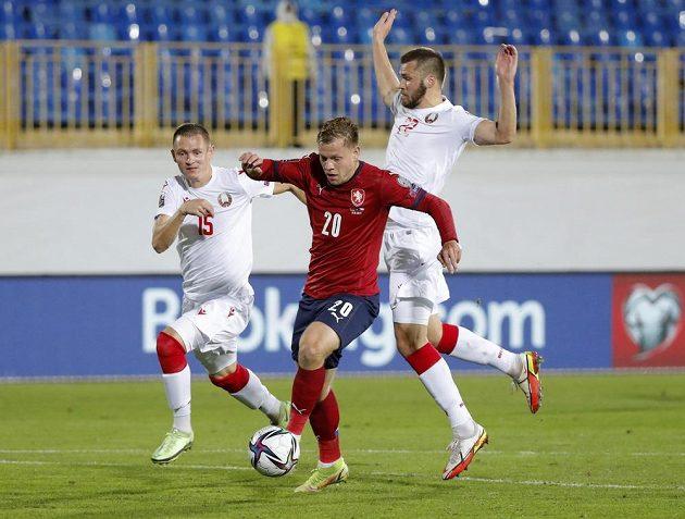 Matěj Vydra a Bělorusové Aleksandr Seljava a Roman Běgunov.