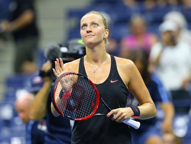 Vítězná Petra Kvitová v úvodním kole US Open.