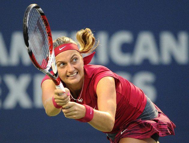 Česká tenistka Petra Kvitová ve finále v New Havenu.