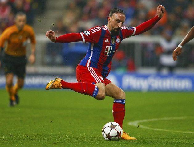 Záložník Bayernu Mnichov Franck Ribéry