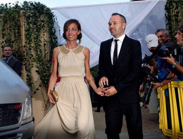 Andrés Iniesta a jeho žena Anna Ortizová.