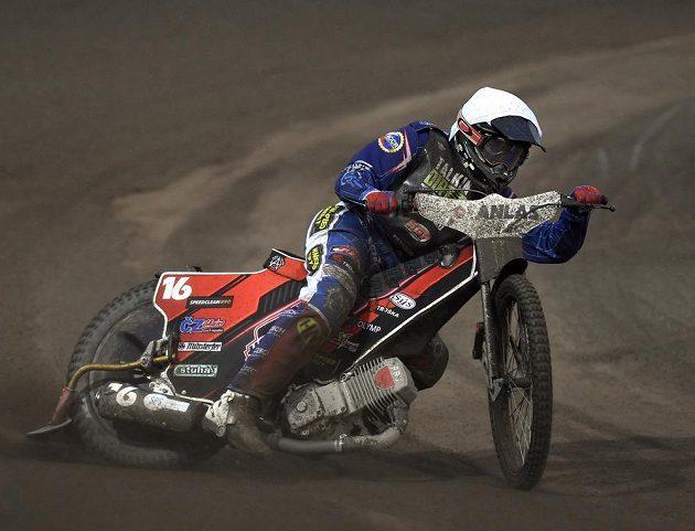 Grand Prix České republiky, závod MS na ploché dráze.V akci je Čech Jan Kvěch.