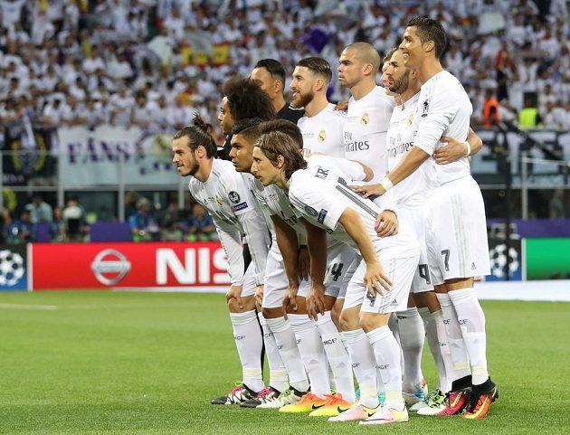 Tým Realu Madrid před finále Ligy mistrů.