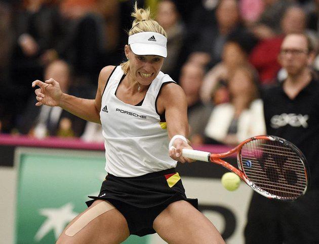 Angelique Kerberová, čerstvá vítězka Australian Open, v neděli na Švýcarku Belindu Bencicovou nestačila.