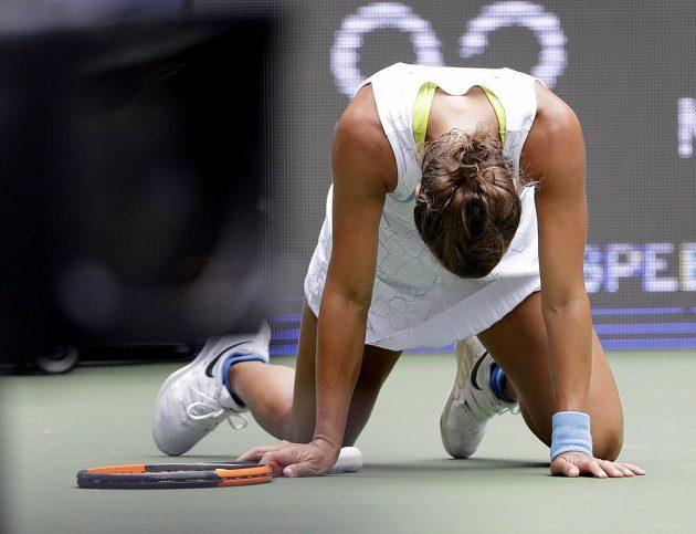 Bojovnice Barbora Strycová v akci během US Open.