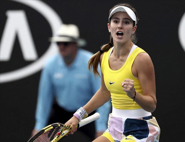 Americká tenistka CiCi Bellisová v akci na Australian Open.