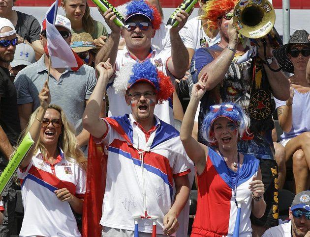 Český fedcupový tým měl i na Floridě slušnou podporu fanoušků.